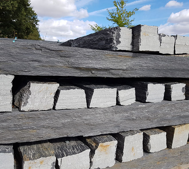 bordure piquet de schiste vente fabrication pierre naturelle calminia