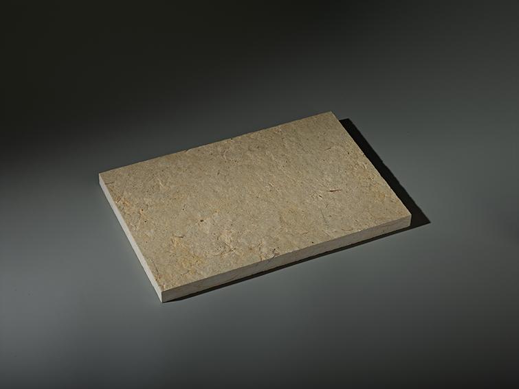 dalle flammee brossee ocre beige calminia pierre naturelle vente fabricant