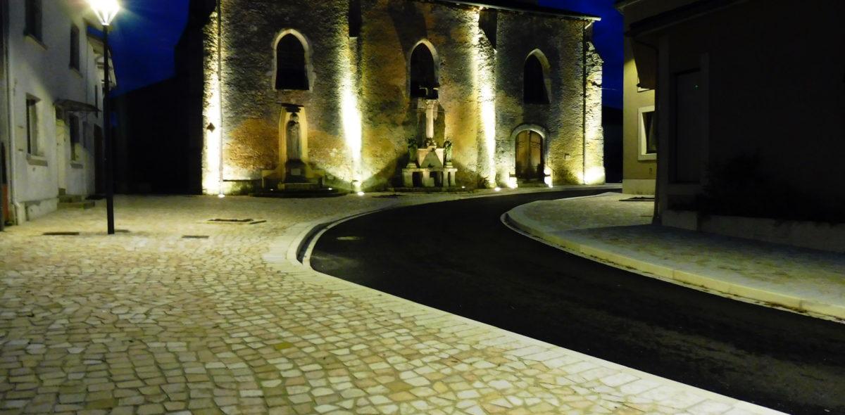 Pave byzance_reamenagement urbain_trottoir et passage bateau_Bascons 40 de nuit