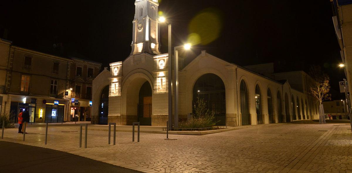 pavé trapeze parvis église ancenis 44 calminia pierre naturelle vente fabricant