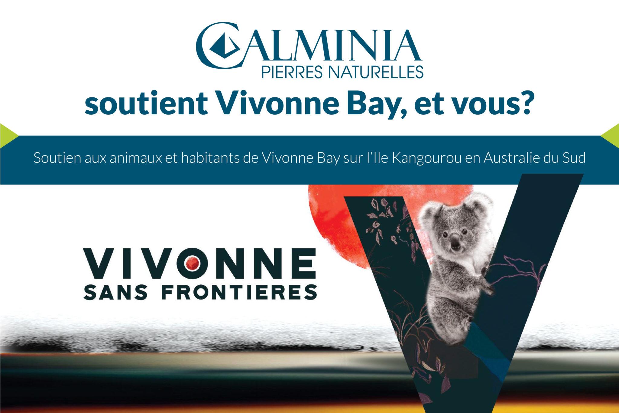 Vivonne sans Frontières - Calminia soutient Vivonne Bay